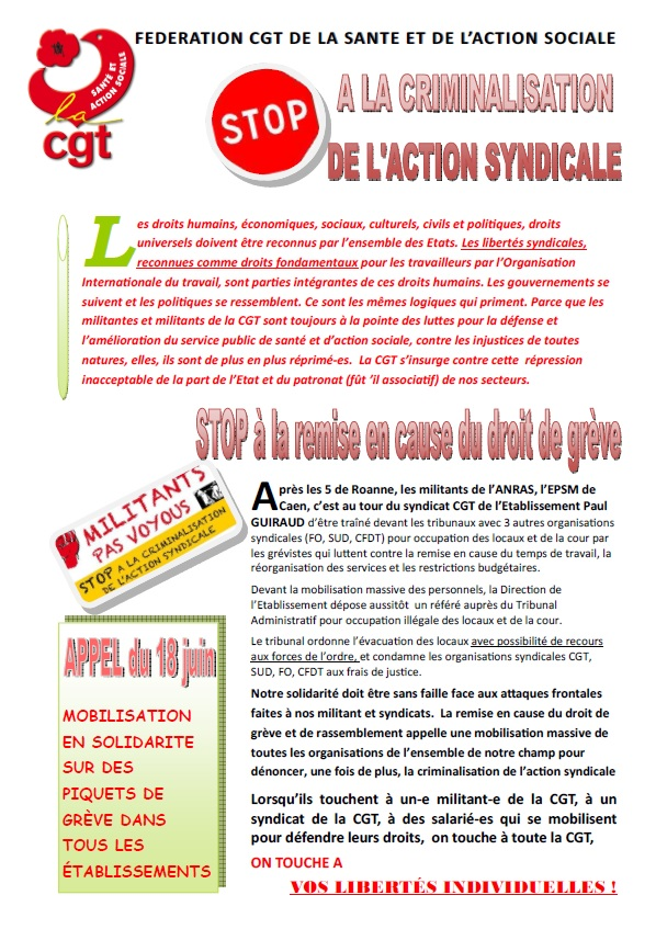 433. Tract discrimination syndicale page 1