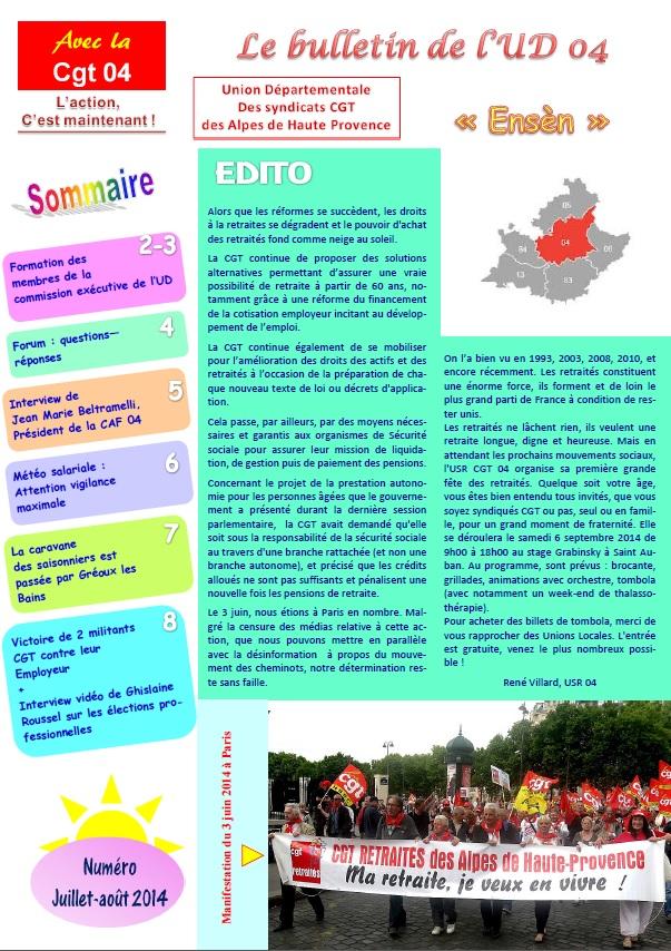 460. Journal UD 04 juillet-août 2014
