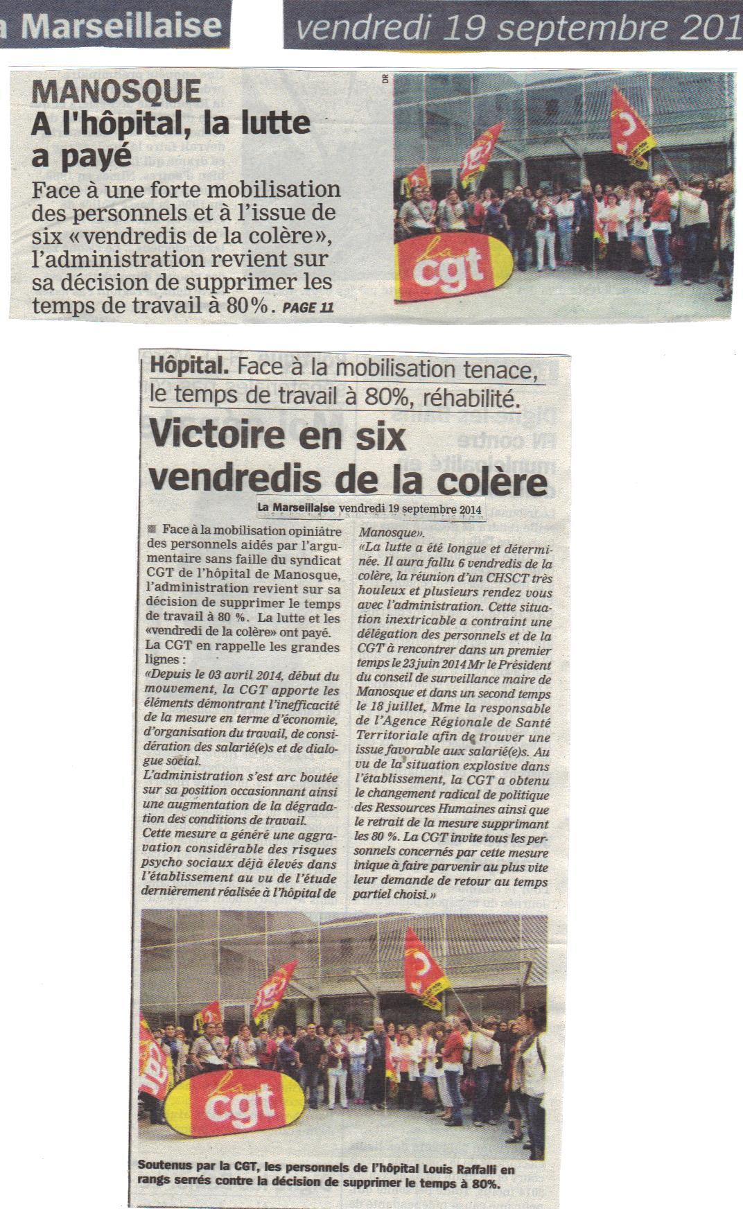478. Article la Marseillaise CGT Manosque