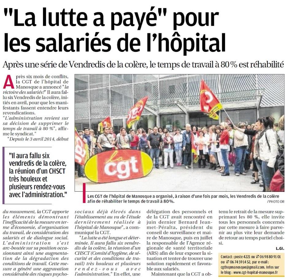 Article La Provence du 23 septembre 2014