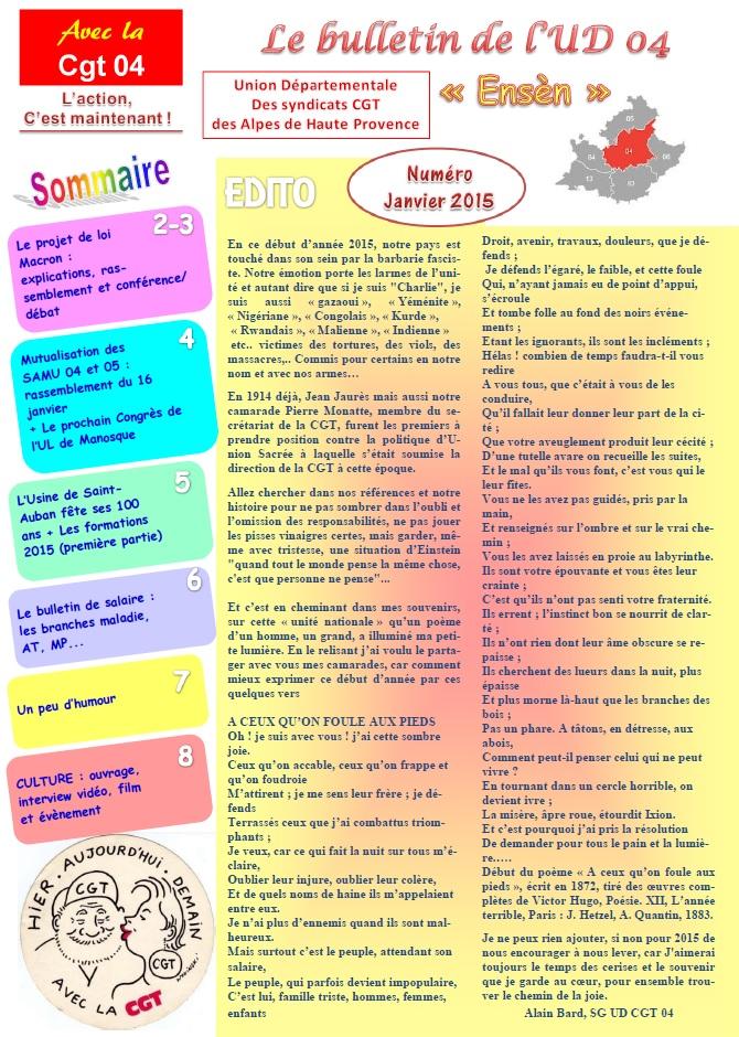 Journal UD CGT 04 janvier 2015