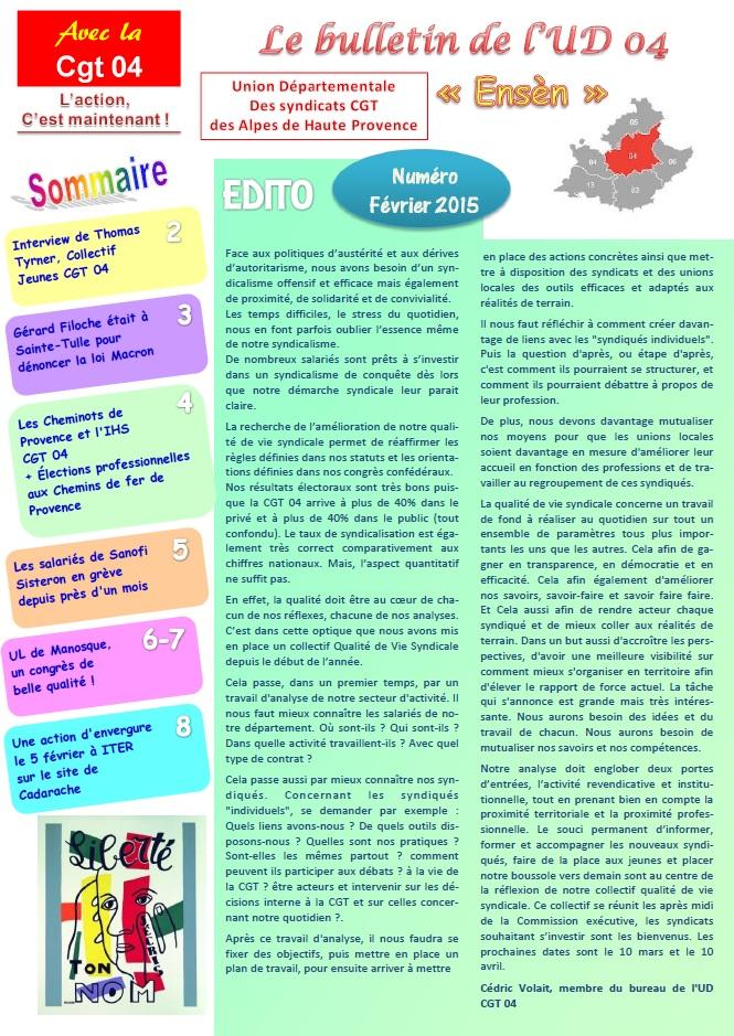 Journal UD CGT 04 février 2015