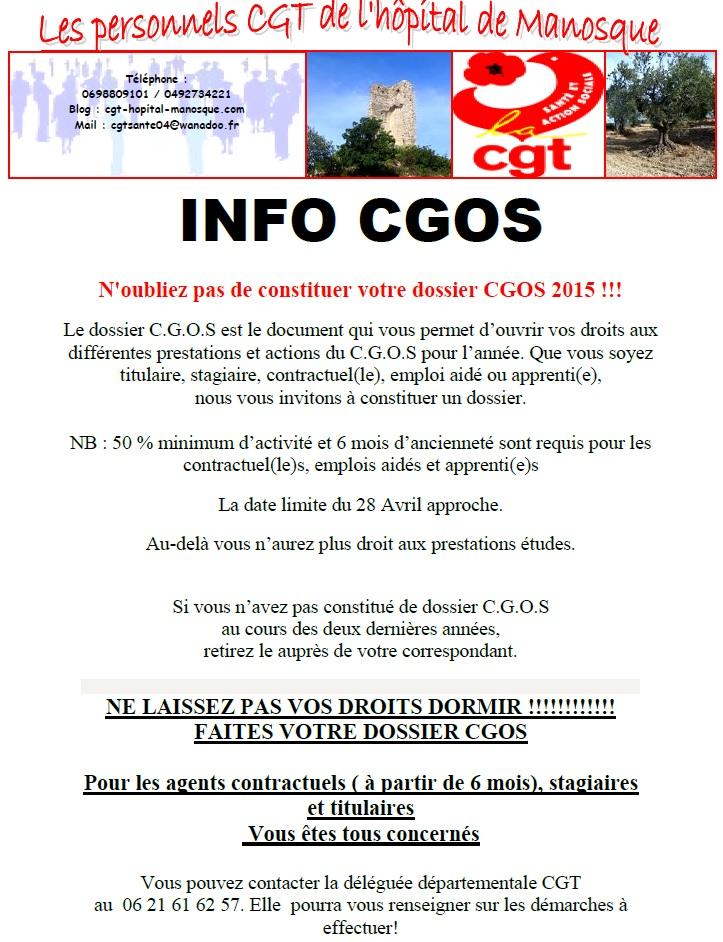 Dossier CGOS 2015