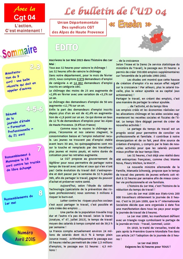 Journal CGT UD 04 avril 2015