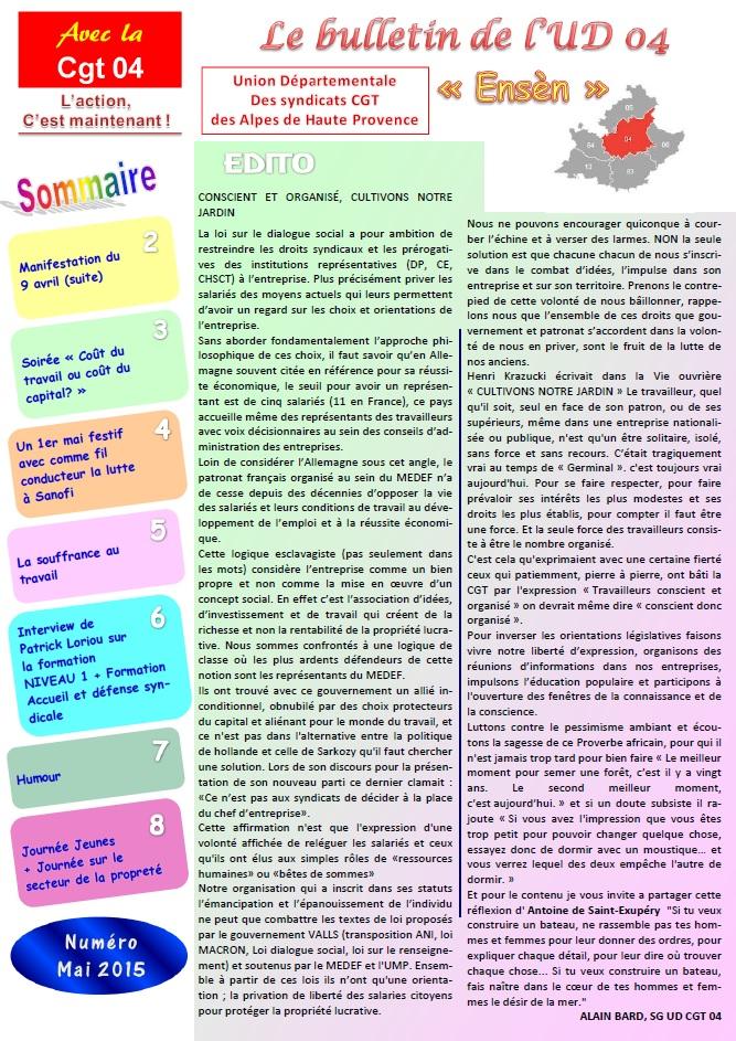 Journal CGT UD 04 mai 2015