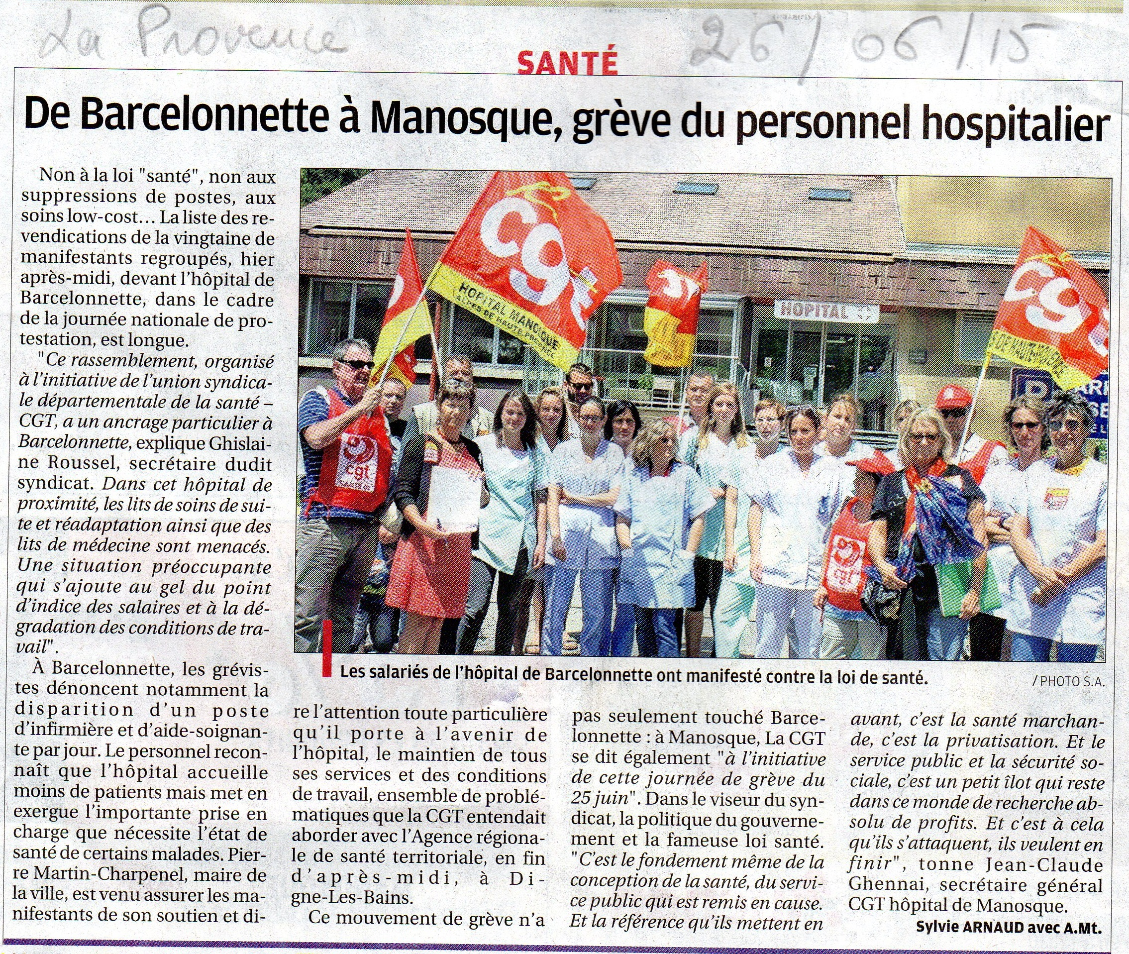 Article La Provence du 25 juin 2015