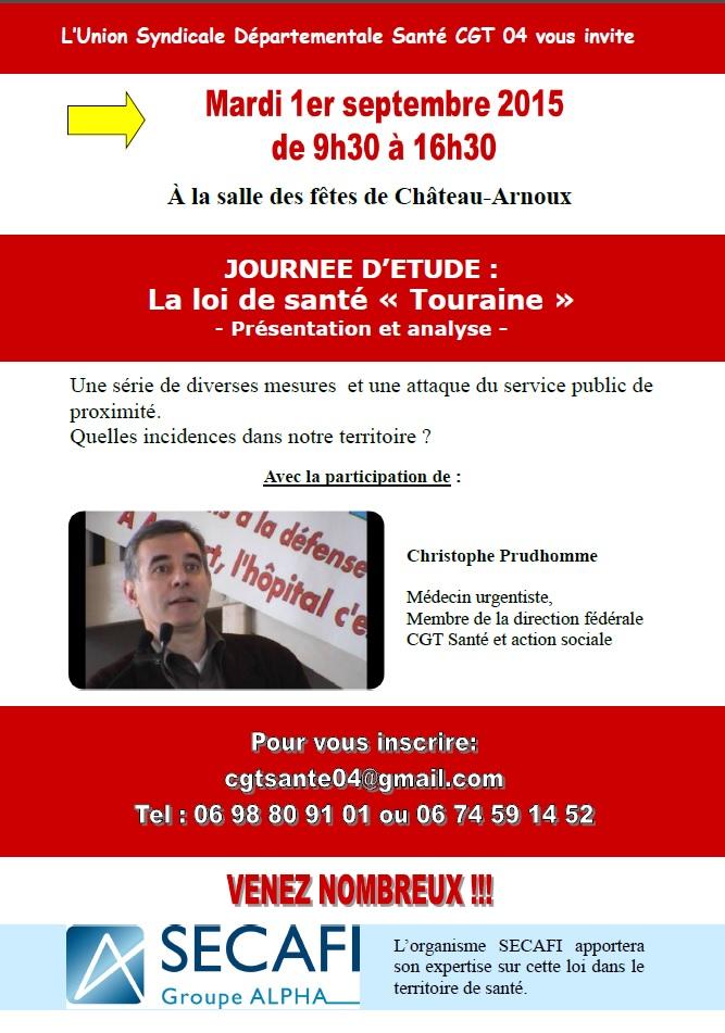 Invitation journée Loi Santé CGT 04