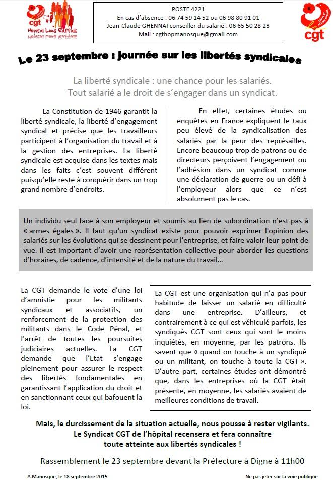 Tract CGT Hôpital 23 septembre 2015