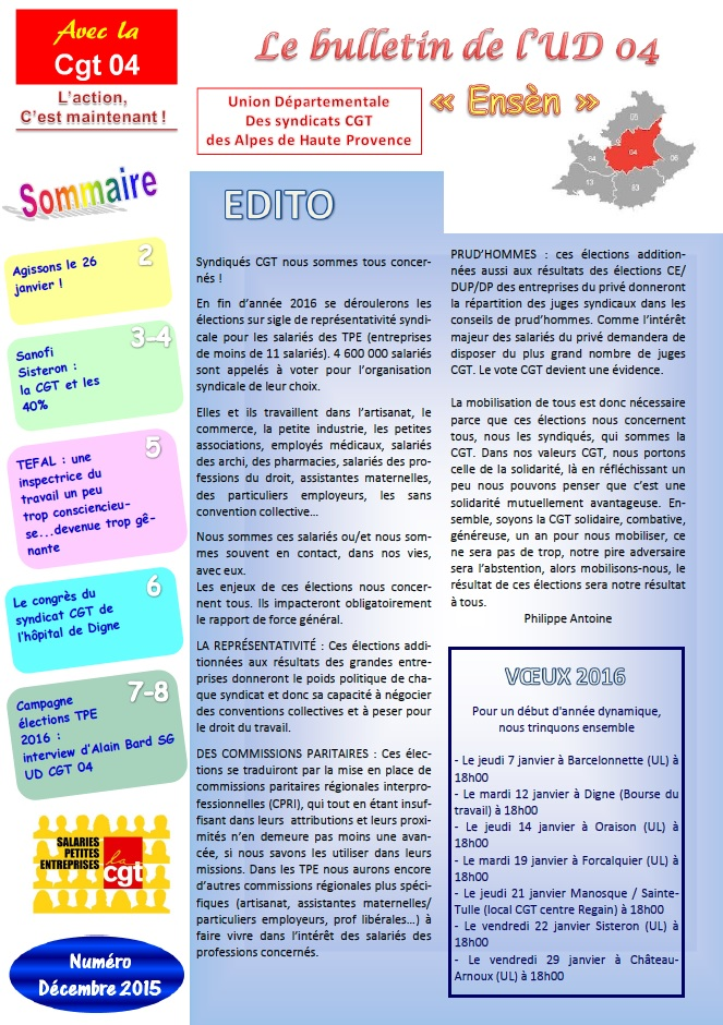 Journal ud cgt 04 d cembre 2015 - Grille indiciaire fph 2015 ...