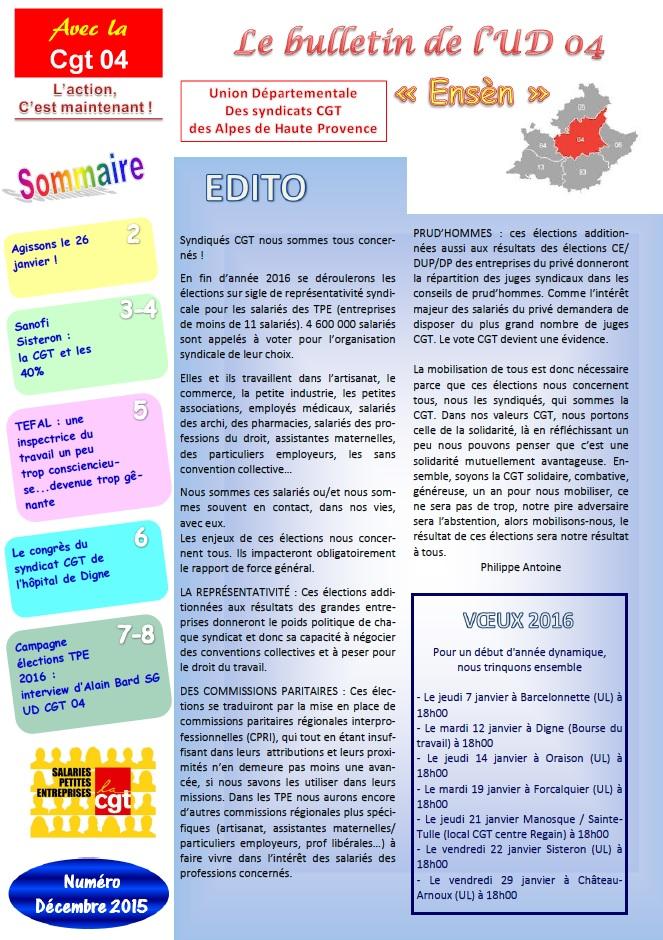 Journal UD CGT 04 décembre 2015