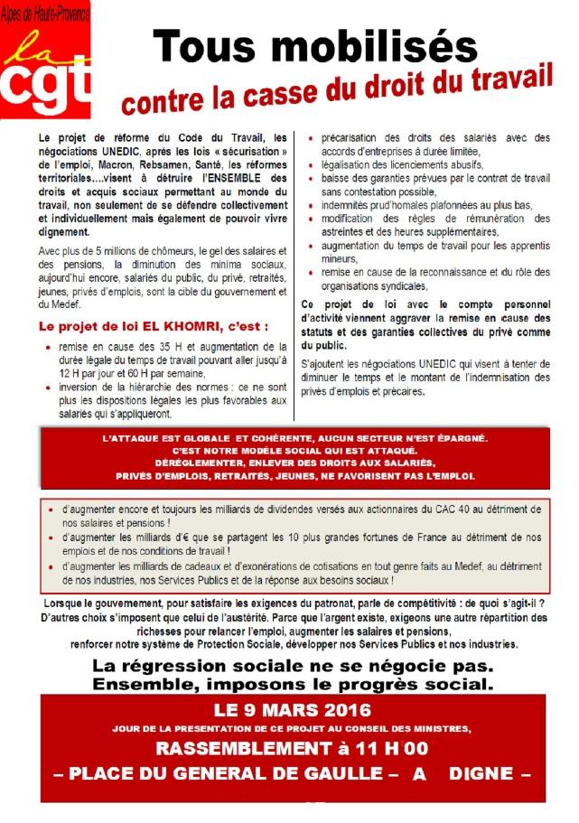Tract UD CGT 04 Loi Travail El Khomri