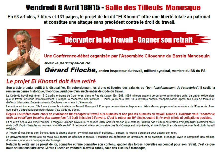 Gérard Filoche Loi travail El Khomri