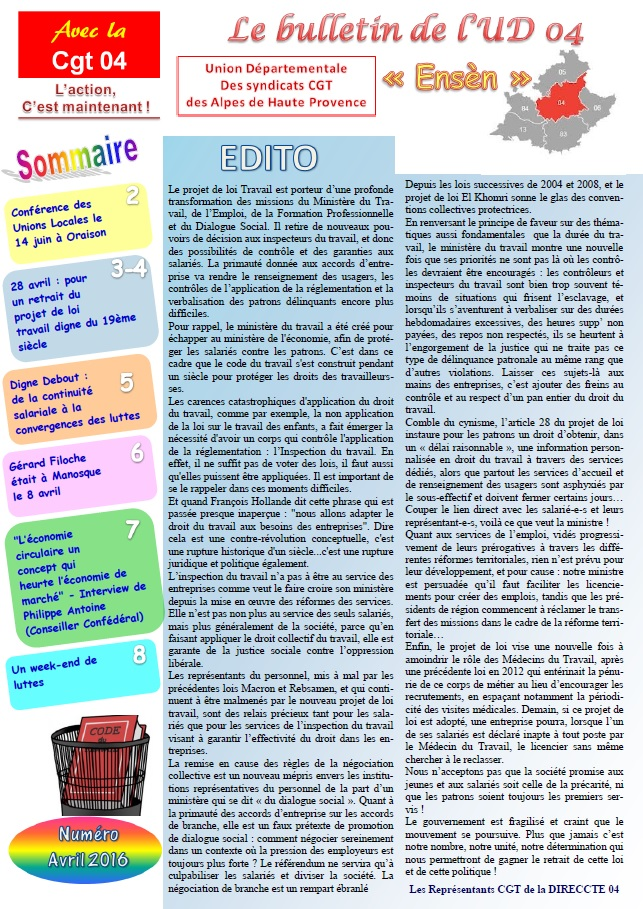 Journal UD CGT 04 avril 2016