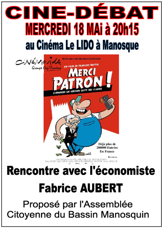 Affiche Merci Patron Manosque (1)