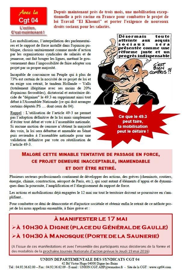 Tract CGT Loi Travail 17 mai 2016