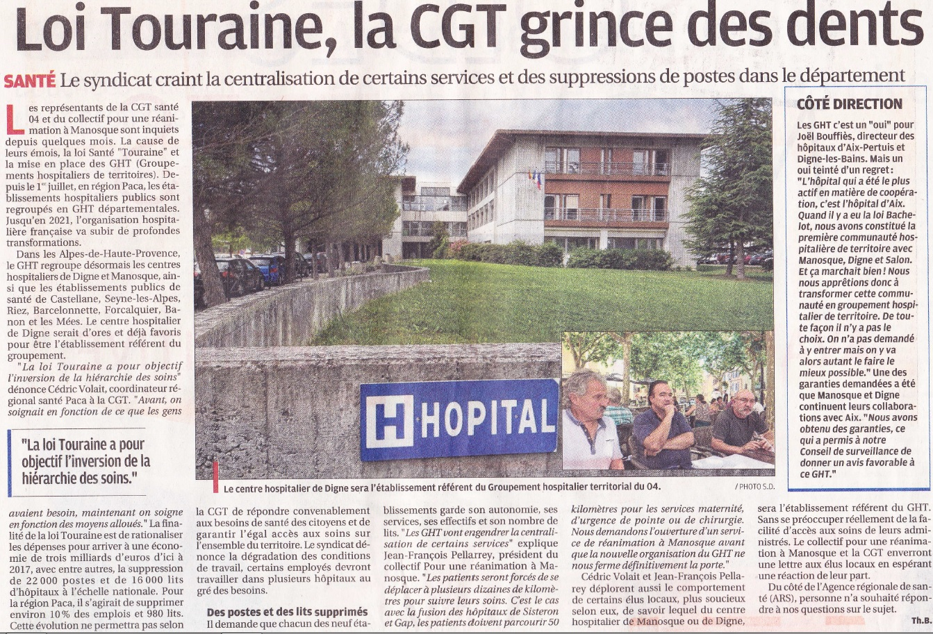 GHT Article La Provence du 08072016