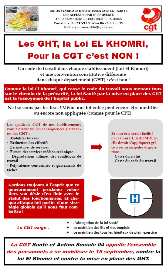 Tract GHT Loi Travail 15 septembre 2016