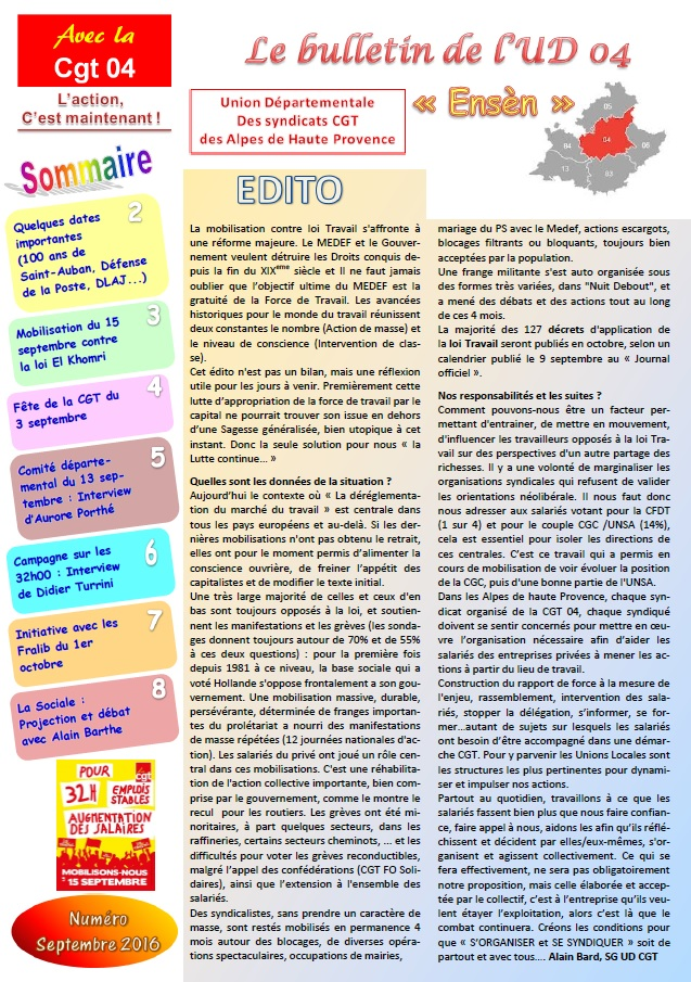 Sommaire-journal-ud-cgt-04-septembre-2016