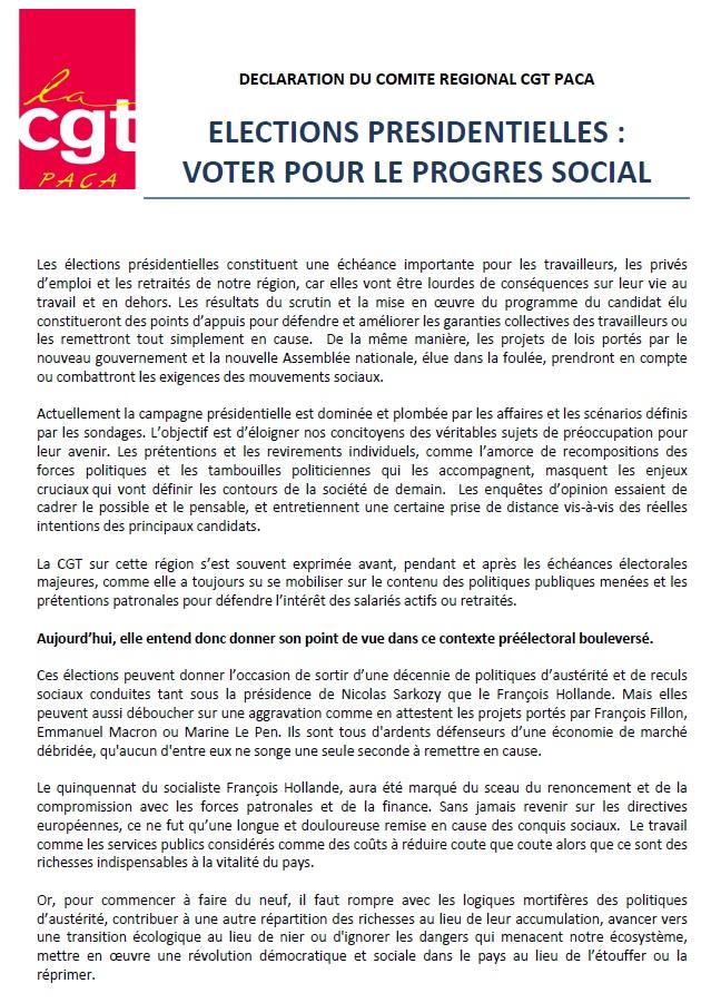 790. Declaration CR CGT PACA - Elections Presidentielles 2017 (1)