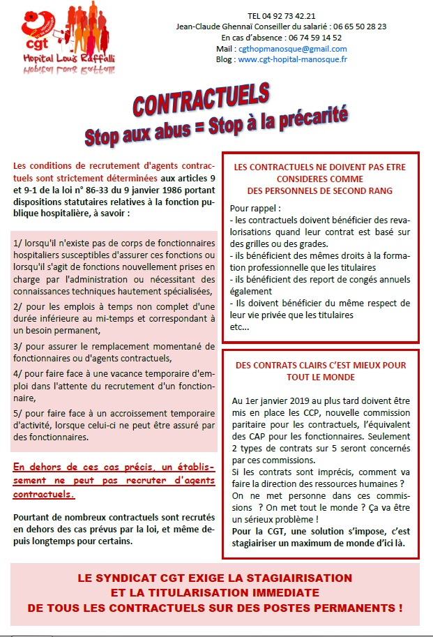 804. Tract CGT contractuels hôpital