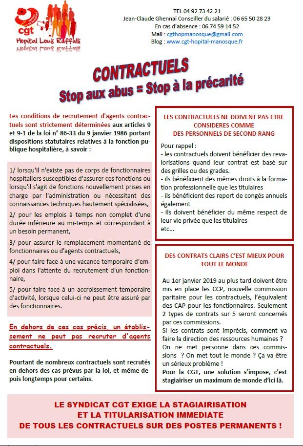 804. Tract CGT contractuels hôpital