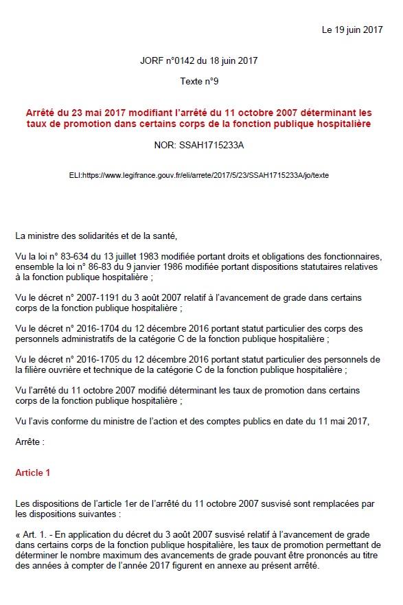 817. Taux de promotion FPH juin 2017 (p1)