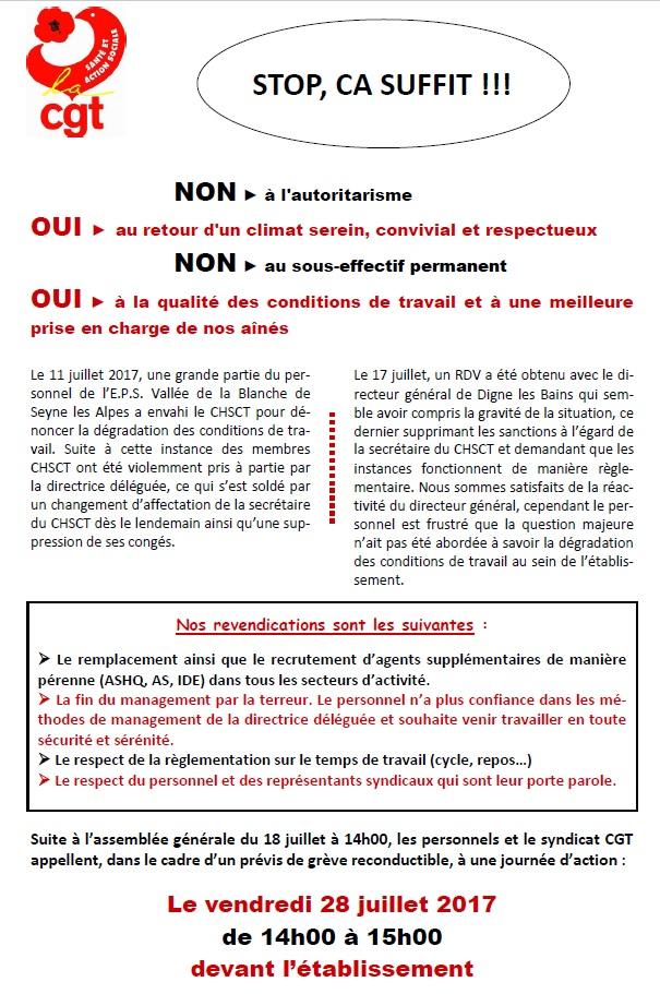 828. Tract grève hôpital Seyne les Alpes