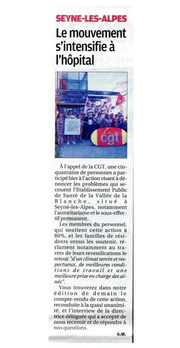 831. La Provence grève Seyne les Alpes 2907