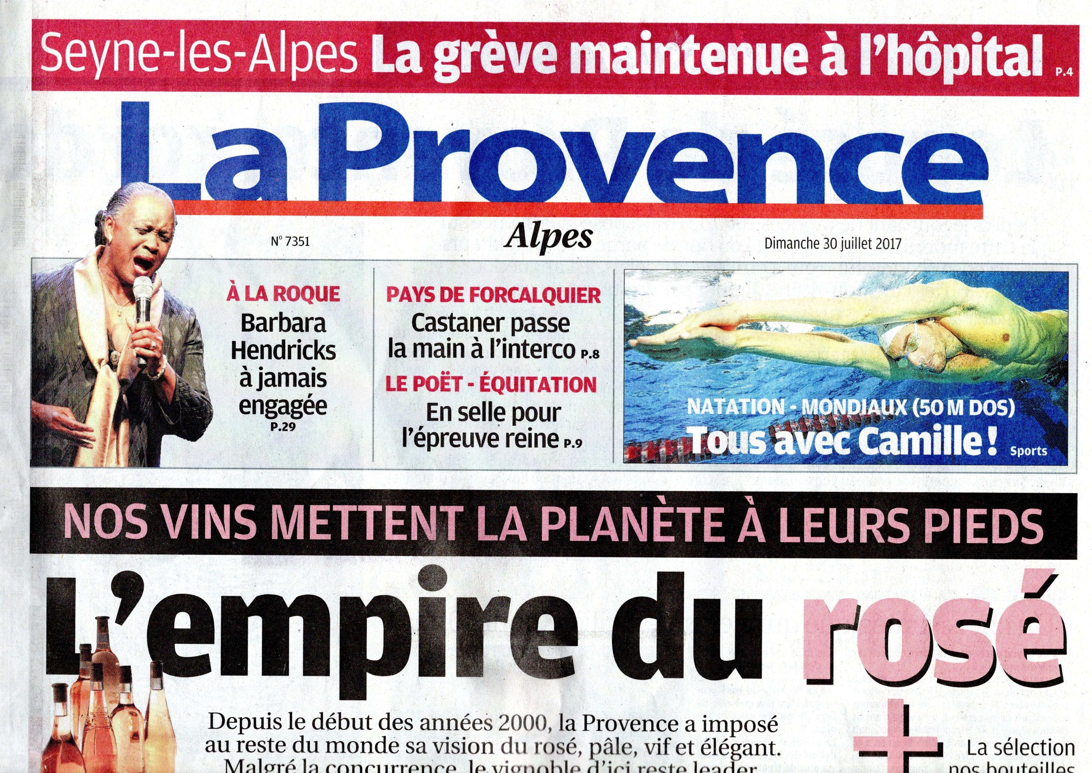 831. La Provence grève Seyne les Alpes (p1)