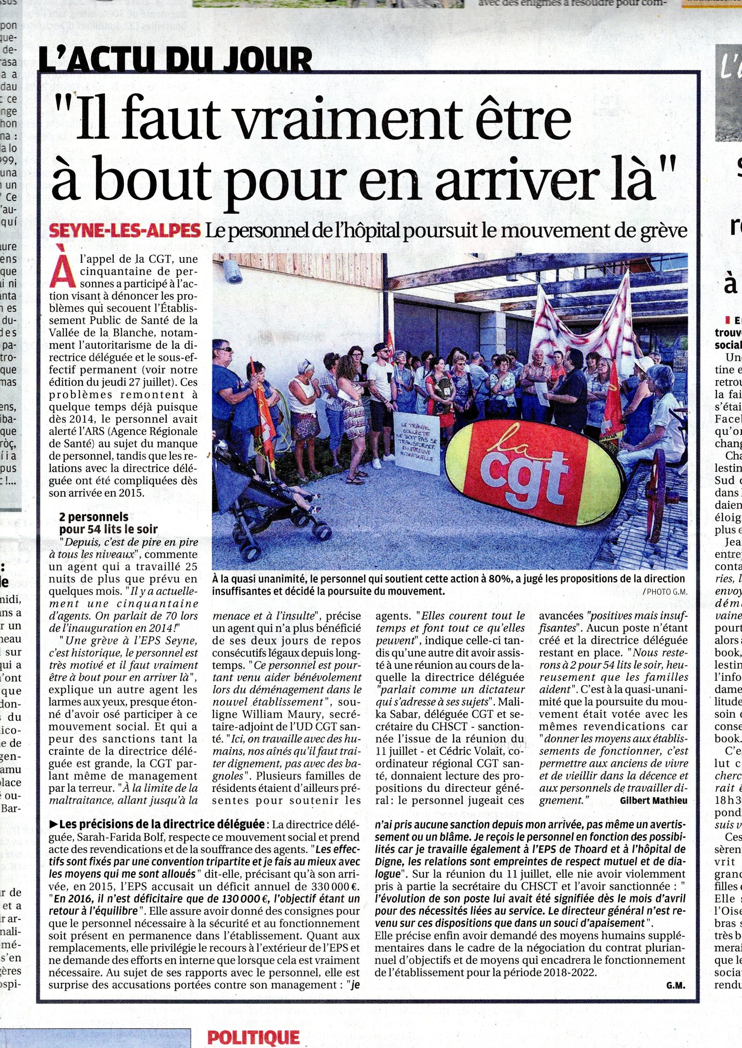 831. La Provence grève Seyne les Alpes (p2)