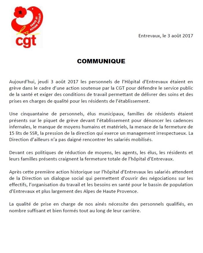 834. Communiqué CGT hôpital Entrevaux (1)
