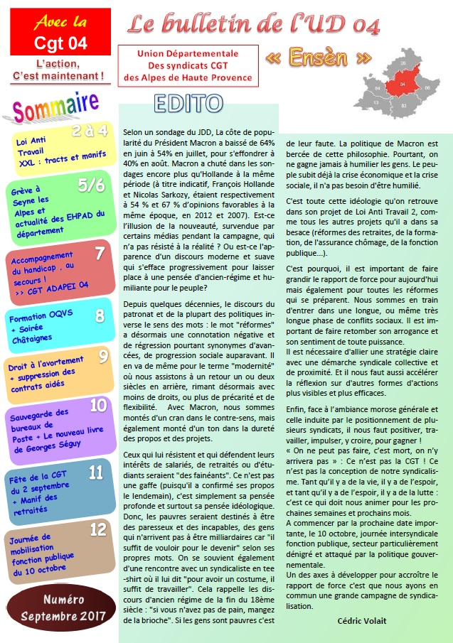 848. Journal UD CGT 04 septembre 2017