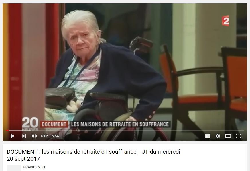 856. EHPAD, maisons de retraite en souffrance, JT France 2