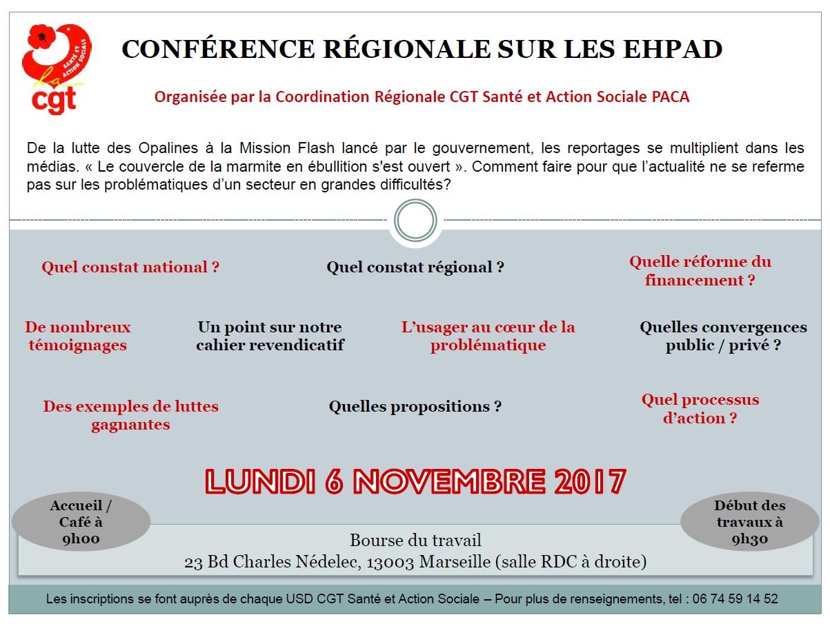 857. Invitation conférence EHPAD CGT PACA