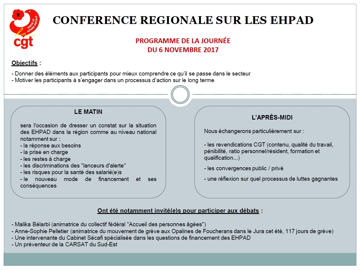 857. Programme conférence EHPAD CGT PACA