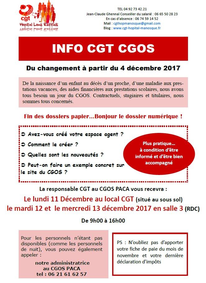 866. Tract info CGT CGOS hôpital