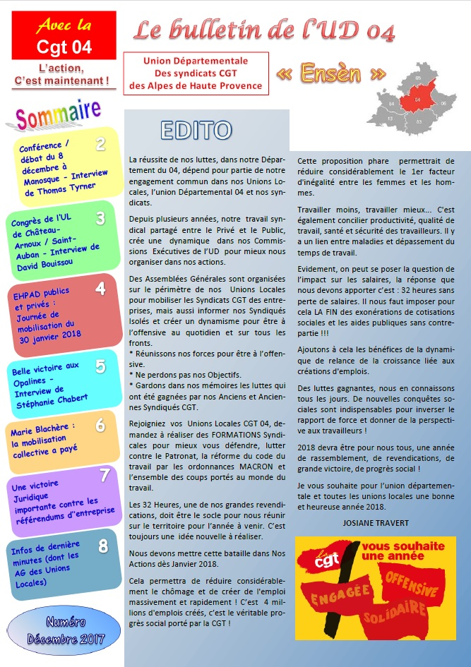 871. Sommaire journal UD CGT 04