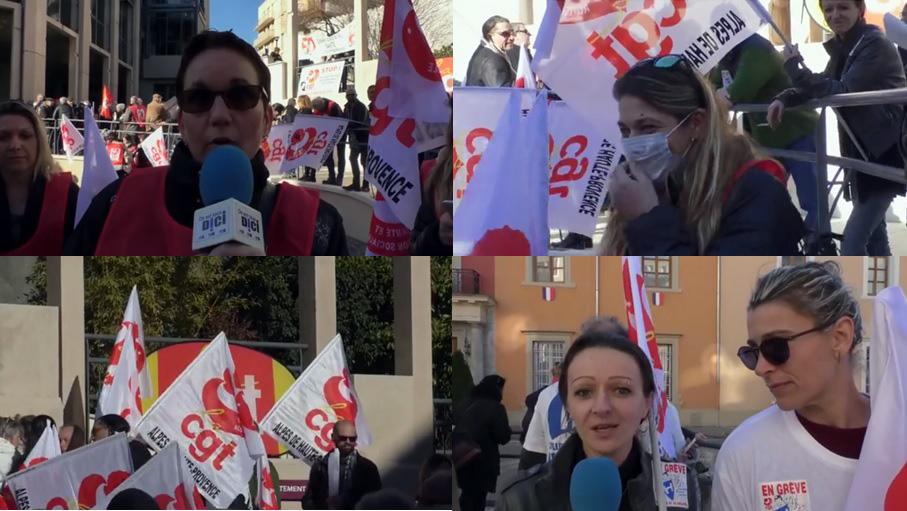 Grève EHPAD Digne les Bains