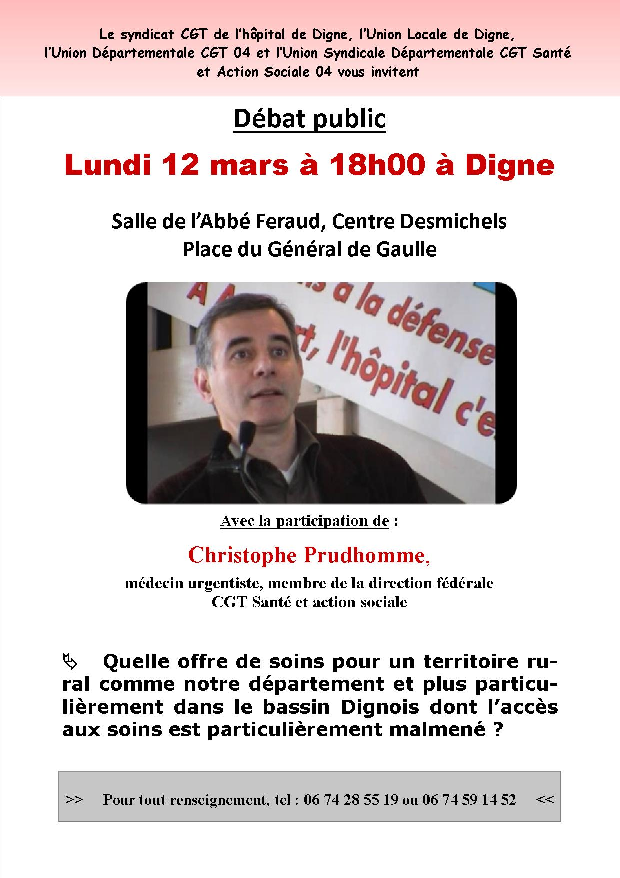 Affiche débat public CGT Santé 04