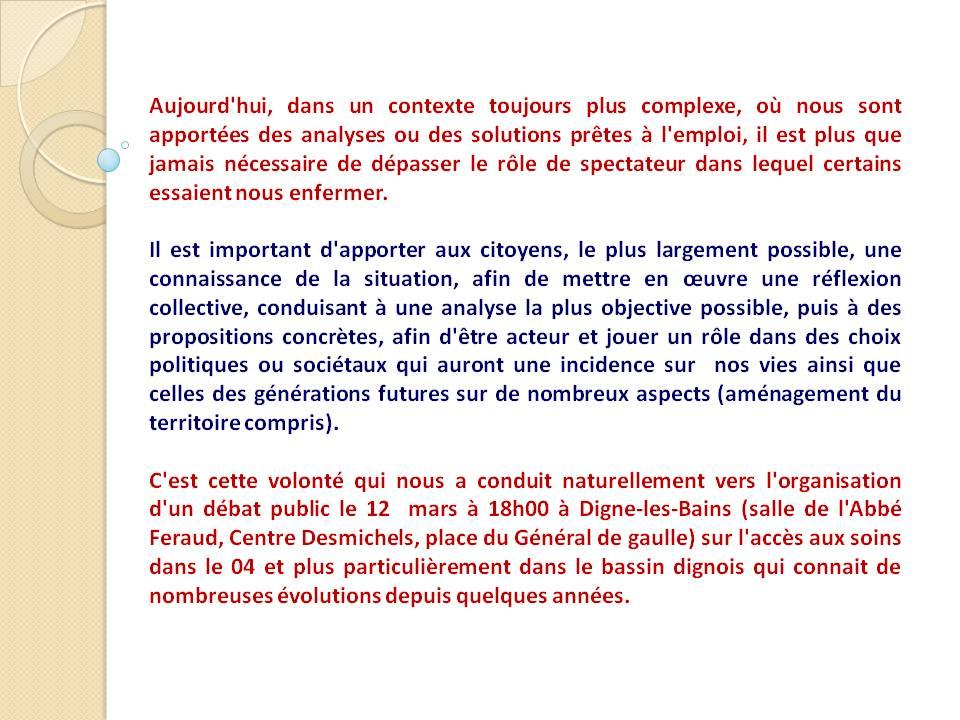 Débat offre de soins avec Christophe Prudhomme (1)