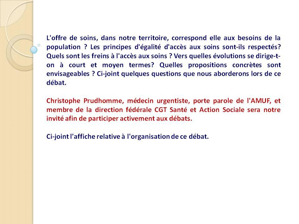Débat offre de soins avec Christophe Prudhomme (2)