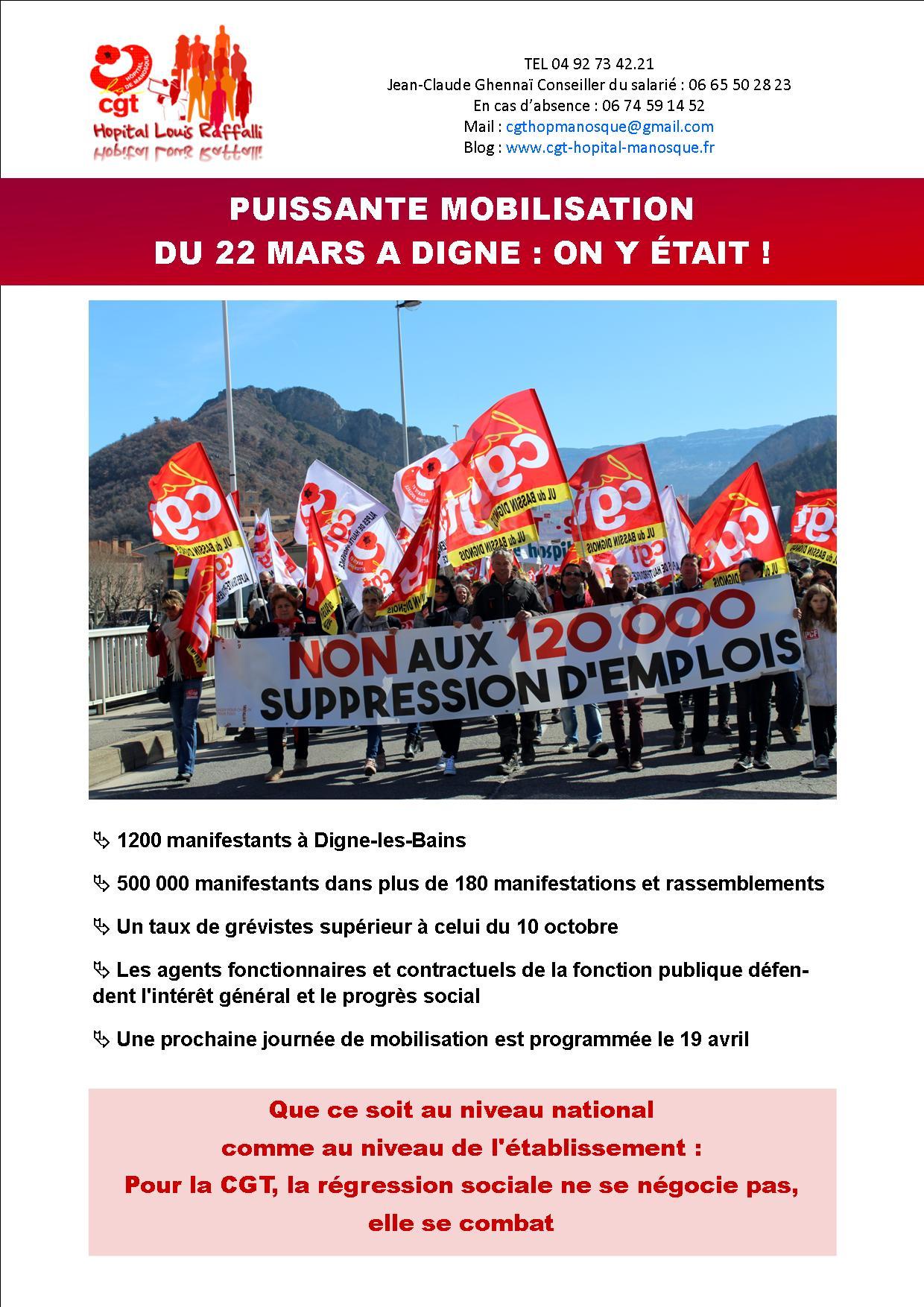 931. Mobilisation Fonction Publique Digne les Bains