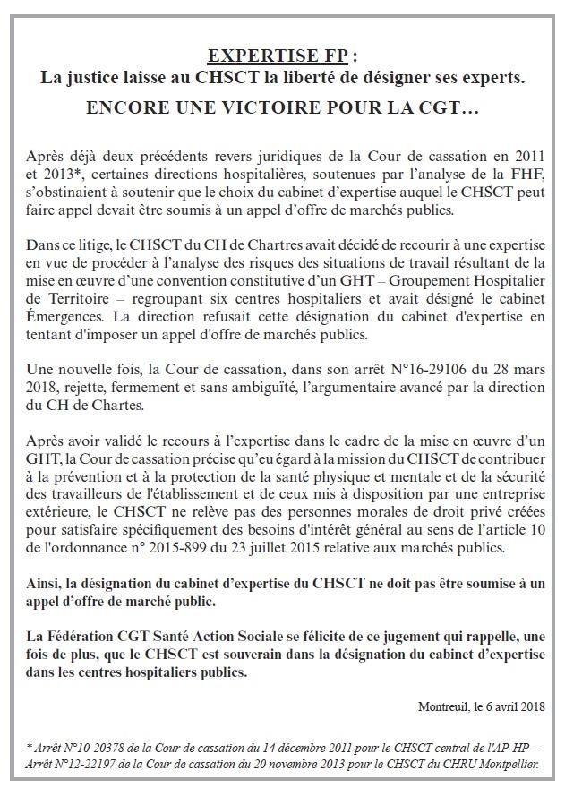 Expertise CHSCT FPH Hôpital