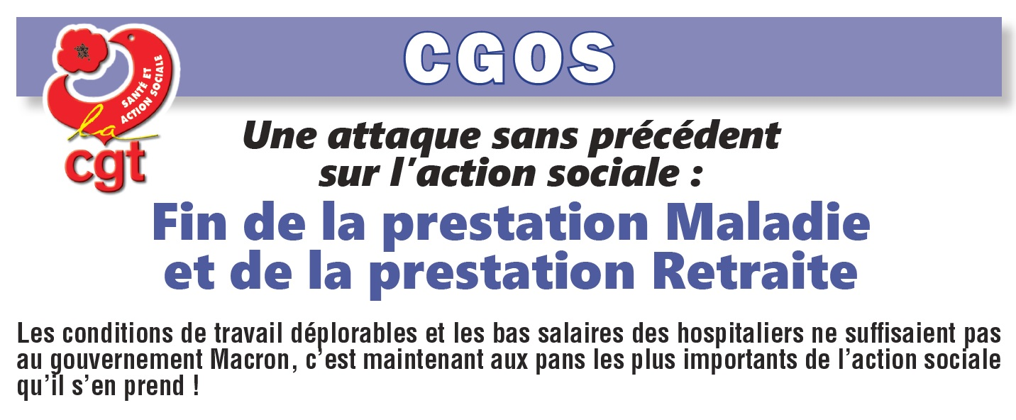 943. Tract CGOS suppression prestation maladie