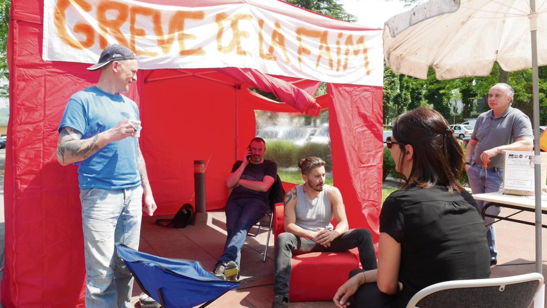 Grève de la faim soignants Rouvray