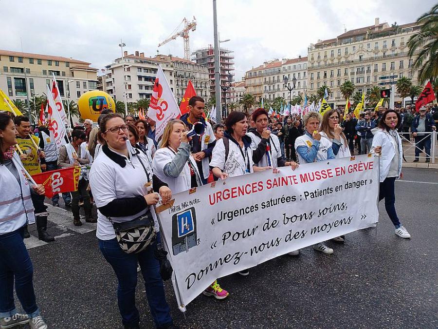 Grève Urgences Hôpital Sainte Musse Toulon