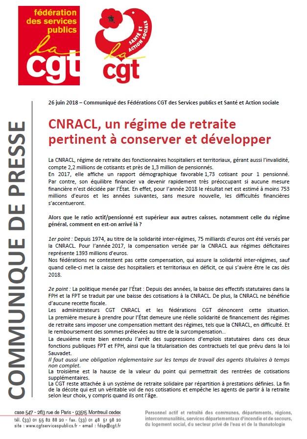 Communiqué CNRACL Retraite juin 2018 (1)