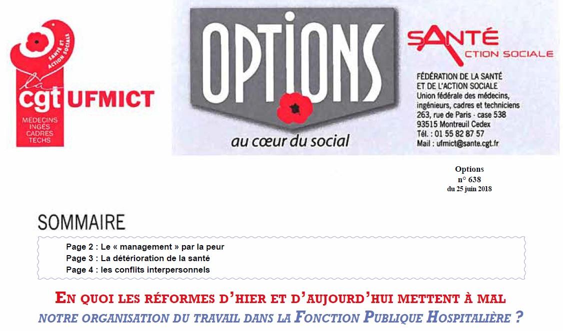 Encart Options UFMICT CGT Cadres juin 2018