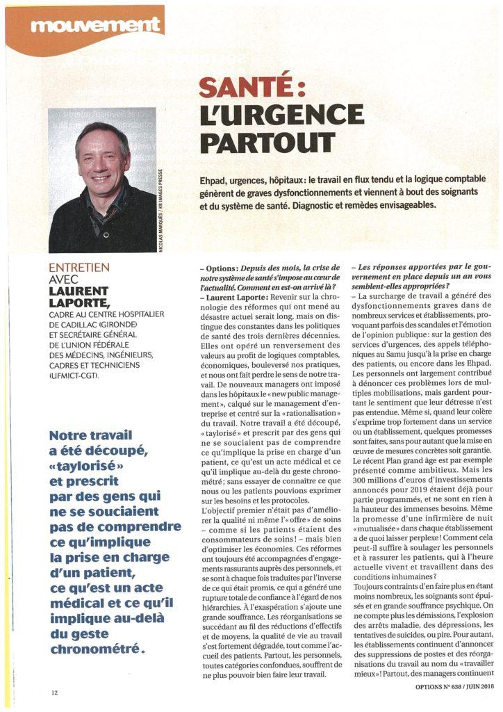 Entretien Laurent Laporte SG UFMICT (1)