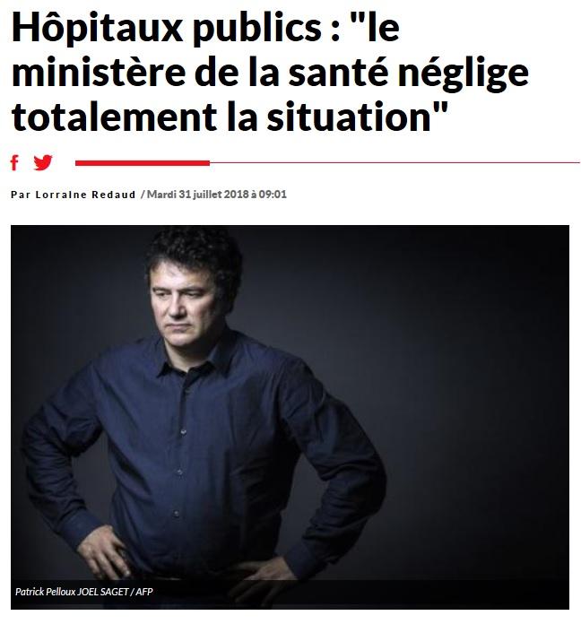 Interview Patrick Pelloux hôpitaux publics Sud Radio (1)
